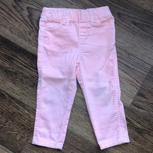 👧18 month Cherokee Orange Jeans - Stretchy waist